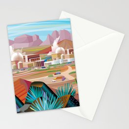 Power Generating Station in Desert Stationery Cards