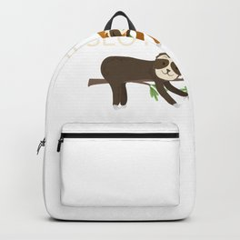 Crazy Sloth Friend. Cute Animal Design Backpack