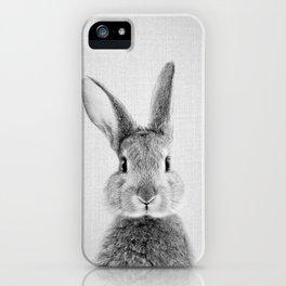 Rabbit - Black & White iPhone Case