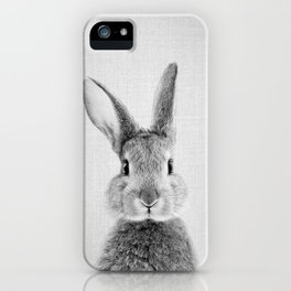 Rabbit - Black & White iPhone Case