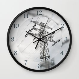 Electric power transmission Wall Clock