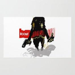 Monkey Go Boom Now Rug