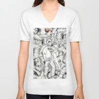 ladybug V-neck T-shirts featuring Ladybug by IvándelgadoART