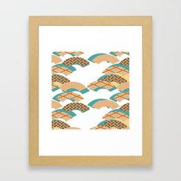 Geometry wind pattern Framed Art Print