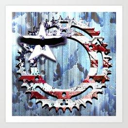 blue steel USA Art Print