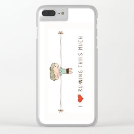 I love running boy Clear iPhone Case