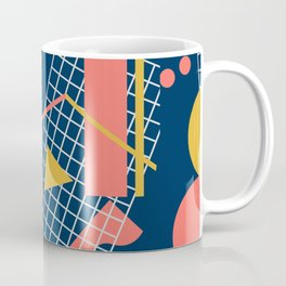Teal Green Memphis Toss - Limited Color Palette 2019 Coffee Mug