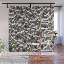 Liquid silver metal Wall Mural