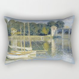 The Bridge at Argenteuil by Claude Monet Rectangular Pillow