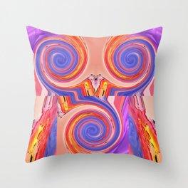 chameleon shock Throw Pillow