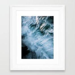 Wave in Ireland during sunset - Oceanscape Framed Art Print
