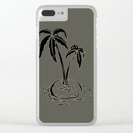 Palm Tree Clear iPhone Case