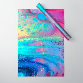 Neon Melt Wrapping Paper