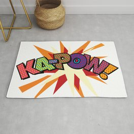 KA-POW Comic Book Modern Pop Art Cool Fun Colorful Graphic Rug