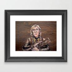 Log Lady / Twin Peaks Framed Art Print