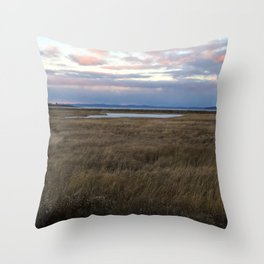Coastal Cotton Candy Colors Throw Pillow