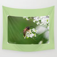 fly Wall Tapestries featuring Fly by Dora Birgis
