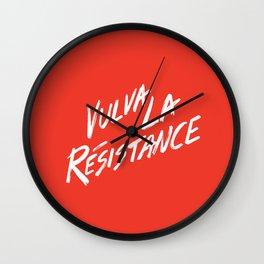 Vulva La Resistance - Feminist Art Print Wall Clock