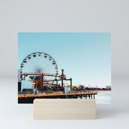 Ferris wheel at Santa Monica pier California USA Mini Art Print