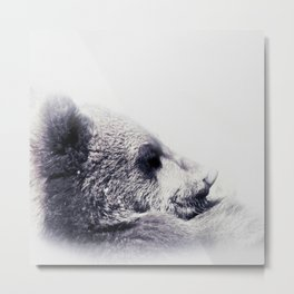 Lovely Baby Bear Black and White #decor #society6 #buyart Metal Print