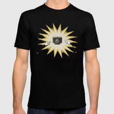 Say Cheese MEDIUM Black Mens Fitted Tee