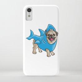 Pug Shark Suit iPhone Case