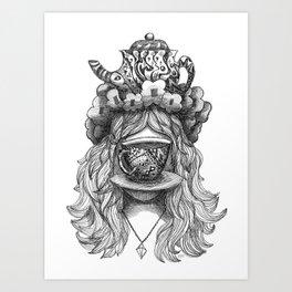 Teagritte Art Print