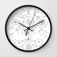 constellations Wall Clocks featuring Constellations by Astro Nascha
