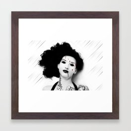 The Girl With Petals Framed Art Print