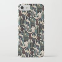 concert iPhone & iPod Cases featuring Concert pattern by David van der Veen