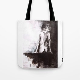 Woman nude Tote Bag