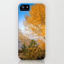 Lonely Yellow Little Tree In Prairie Across Mountain Range Ultra HD iPhone Case