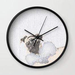Pug in a Ruff Wall Clock