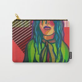 Color Blind - Bright Colorful Surreal Portrait of Woman, Painting Carry-All Pouch