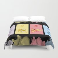 eevee Duvet Covers featuring Evolutions, Part I by David Flamm