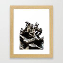 Reaching for Sanity Framed Art Print
