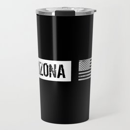 Black & White U.S. Flag: Arizona Travel Mug