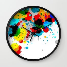 Paint Splash Wall Clock