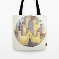 castle Tote Bags featuring Castle by Kasheva