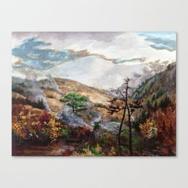 Great Smoky Mountains - 18th century old oil painting Canvas Print