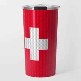 Swiss flag by Qixel Travel Mug