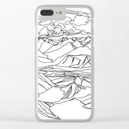 Alec and Echo Lake :: Single Line Clear iPhone Case