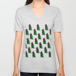 Hedgehog Cactus Unisex V-Neck