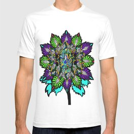flower touch of color T-shirt