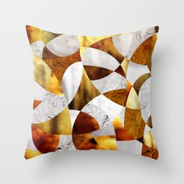 Curves - Silver and Gold Throw Pillow