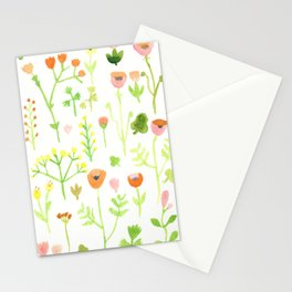 Flower illustration from the Old Text Stationery Cards