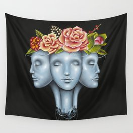Blank Faces Wall Tapestry