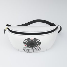 Chip & Dice for Poker Fanny Pack