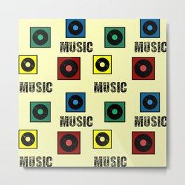 Music design Metal Print