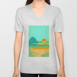 CANNON BEACH Unisex V-Neck